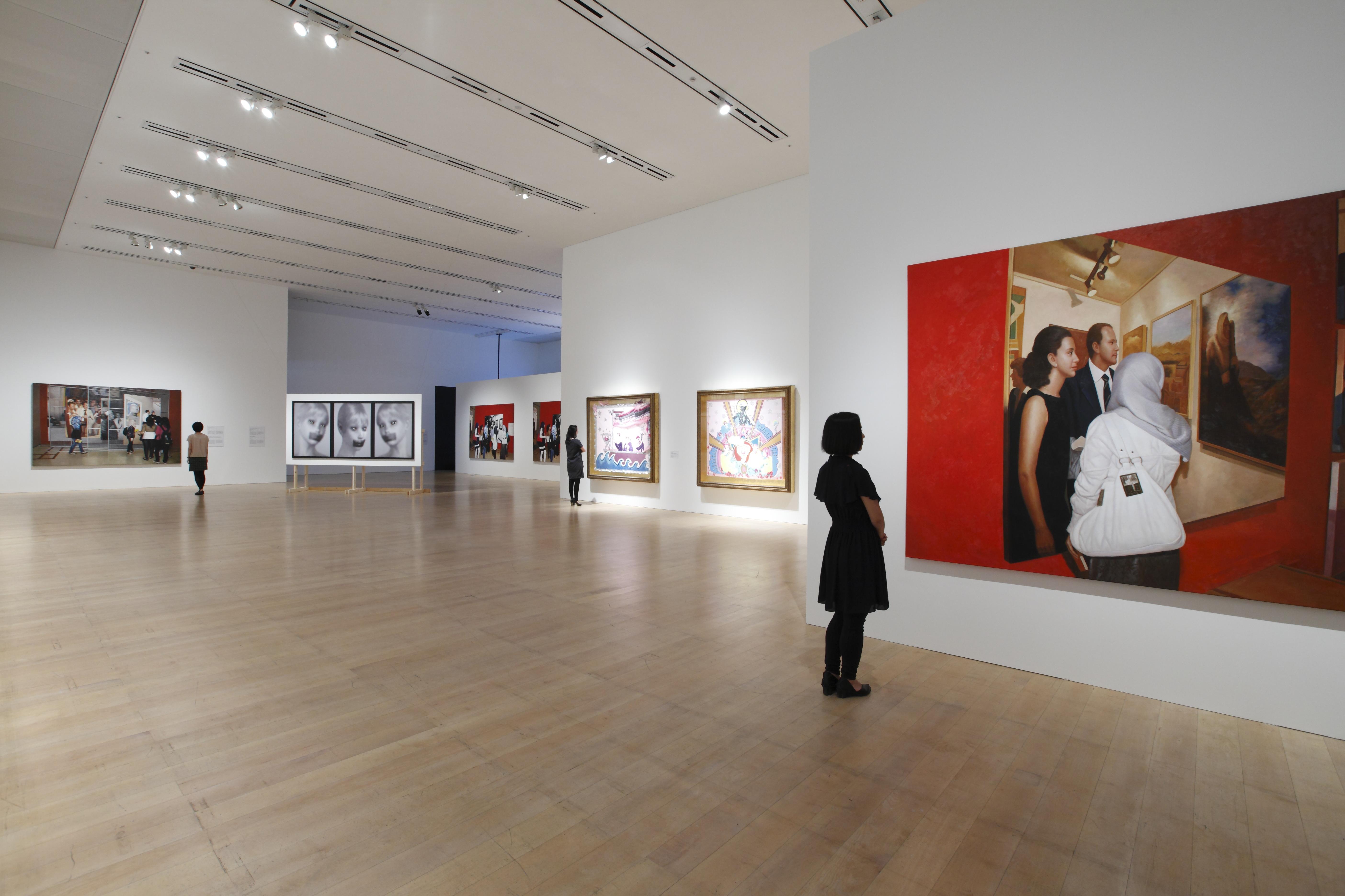 「アラブ・エクスプレス展:アラブ美術の今を知る」展示風景